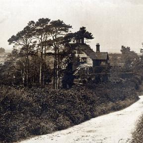 Chalke Road with view of The Old Rectory