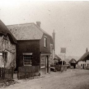 Thatched shops