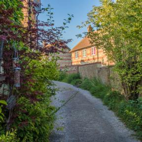 View up the lane from the Post Office, Sixpenny Handley - Andrew Chorley AWD Photography