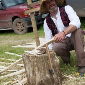 Anthony Brown, one of the rural crafters up on the top field