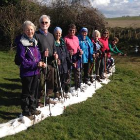 Chalke Valle Nordic Walking in the snow