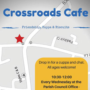 Crossroad Cafe - every Wednesday, Sixpenny Handley Parish Office