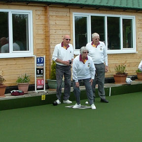 Playing Bowls in Sixpenny Handley